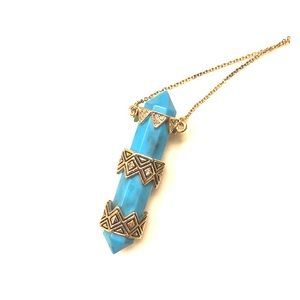 House of Harlow turquoise necklace